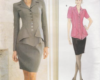 Lagerfeld Jacket & Skirt Pattern Vogue 1819 Sizes 12 14 16 Uncut