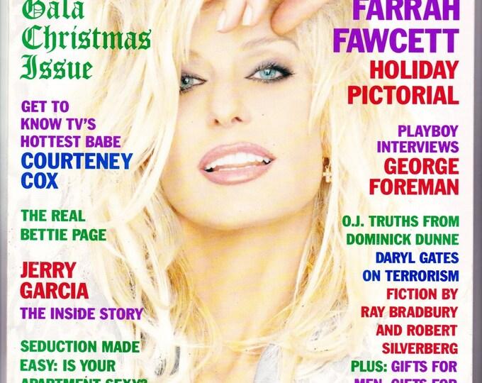 Vintage Playboy Magazine December 1995 with Farrah Fawcett, Torrid Torres, Heavyweight Boxer George Foreman, Social Critic Dominick Dunne