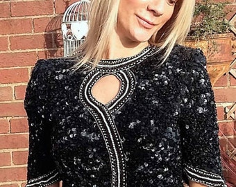 vintage sequined and beaded top.