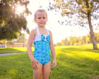 One Piece Swimsuit - Mermaid Swimsuit - Little Mermaid Swimsuit - Girls Swimsuit - Little Mermaid Birthday - Bathing Suit for Girls - Swim