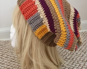 READY TO SHIP Doctor Who Tom Baker Inspired Scarf Hat - Slouchy Hat / Beanie - Women's / Teens