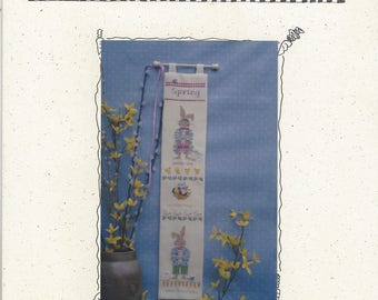 """Clearance- """"Spring Bell Pull"""" Counted Cross Stitch by Fanci That"""