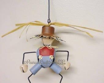 Scarecrow Bell Ornament, Fall Decor, Seasonal Ornaments, Decorative Bells