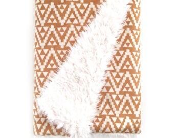 Baby Blanket Mustard Geo Tribal. The Cloud Blanket. Faux Fur Baby Blanket. Minky Baby Blanket. Triangle Baby Blanket.