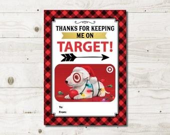 Teacher Christmas Gift, Target gift Card Holder, teacher appreciation, male teacher, Printable teacher gift, Instant Download