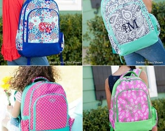 Girls Monogrammed Backpack, Bookbag, Personalized Backpack, Monogrammed Gifts, Back to School, Preppy Backpack, School Supplies