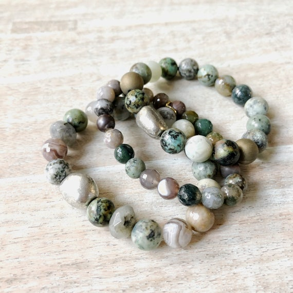 One of a Kind Mixed Stone Set