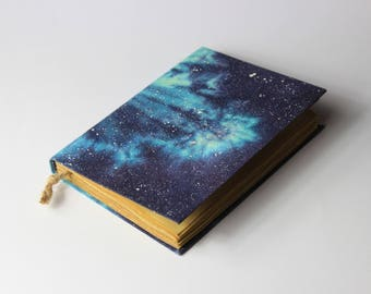 Galaxy Handmade Journal, Notebook, Stars, Diary, cosmos, universe, old paper
