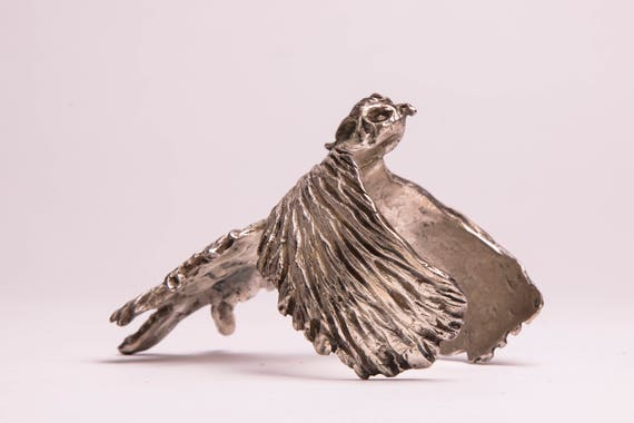 uniquely handcarved phoenix solid bronze silver plated women fine jewelry present summer bangle