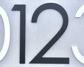 14 inch Modern House Numbers Letters