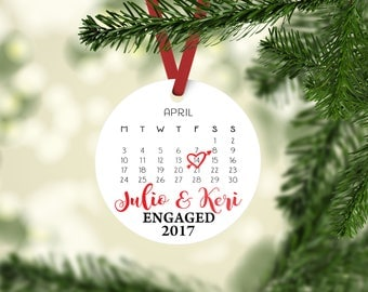 Engagement Gift | Engaged Ornament Couples | Gift Engagement Present | Bride To Be Gift | Proposal Gift | Gift Tag | First Christmas