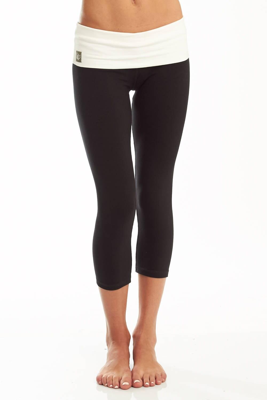 Womens Yoga Pants Cotton Capri 'Nava' Yoga Pants