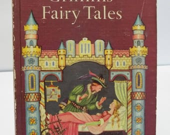 Vintage 1963 Companion Library Grimm's Fairy Tales and Andersen's Fairy Tales 2 Books in 1