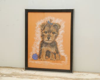 Yorkshire Terrier Painting Drawing Pastels