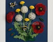 PDF Quilled Dandelion Seed Head - Step-by-Step Quilling Tutorial