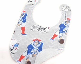 Baby Bib - New England Patriots Retro Logo Football Bib - Ready to Ship