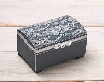 Engraved Wedding Ring Box Wooden Ring Box Ring Bearer Box Ring Holder Engraved Wooden Box Custom Initials Box With This Ring Box Lace Box