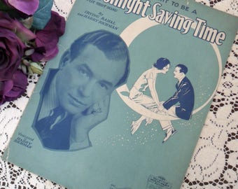 Vintage Antique 1929 When My Dreams Come True Sheet Music Art Deco Cover Art Words & Music Irving Berlin Love Song In 'The Cocoanuts' Movie