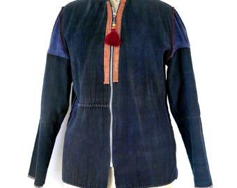 modified akha jacket, akha coat, hill tribe jacket, hill tribe coat