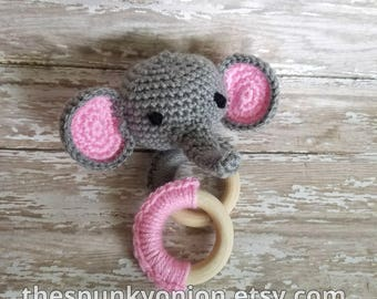 Elephant Rattle and Teether Set