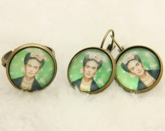 SET earrings and ring Frida