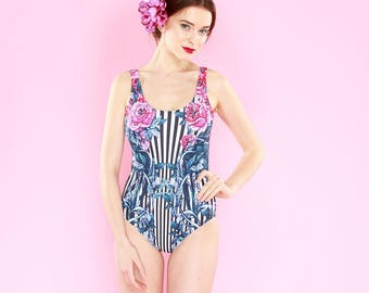 Pink Roses -swimsuit