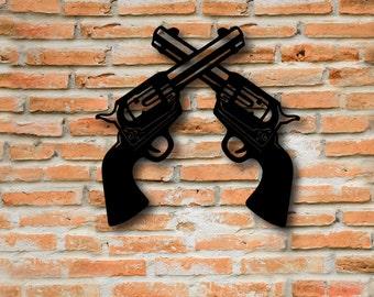 Pistol Sign, Gun Metal, Sign for Gun Lover, Miranda Lambert, Metal Art, Western Decor, Western Signs, Weapon Signs, Kids Decor, Cowboy Sign