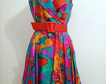 A. J. Bari size 6 sleeveless dress with wide collar and flared hem. Never worn!