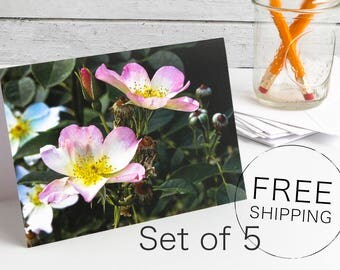 Floral Photo Greeting Cards, Greeting Cards Handmade, Greeting Card Set, Custom Greeting Cards, Note Cards with Envelopes, Personalized