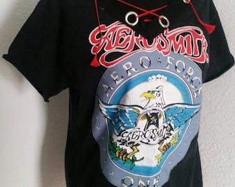 Aerosmith ladies upcycled band shirt XS S M OR L