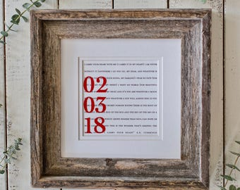 Wedding Gift For Couple | Gifts For Couples | Gift For The Couple | Couples Wedding Gift | Framed First Dance Lyrics or Wedding Vows