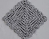 Set of 10 Handcrafted Scallop Edge Washcloths in your choice of color - Soft Crocheted Washcloths - Cotton Facecloths