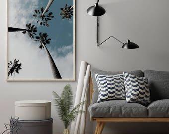 Tropical Tree Photo Print, Scandinavian Print, Digital Download Large Downloadable Poster, Instant Download, Minimal Design Print