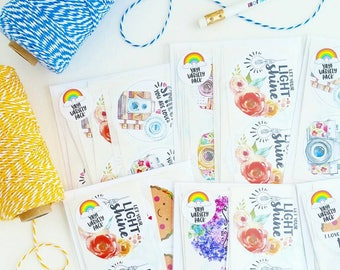 VARIETY PACK! happy mail 2 inch circle stickers packaging supplies stationary