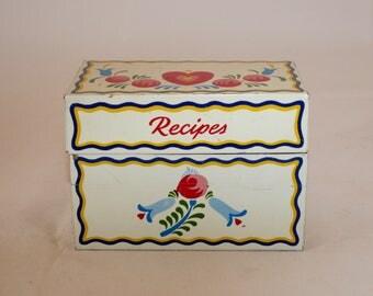 Vintage 1970s Recipe File Box