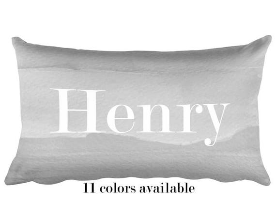 Gender Neutral Name Pillow, 12x20