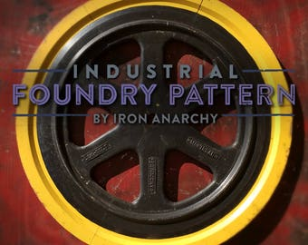 Foundry Wheel Decor, Vintage Industrial
