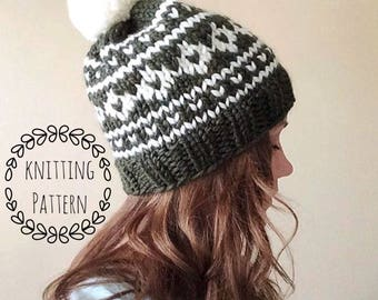Arctic Circle Toque, Knitting Pattern, Fair Isle, Fair Isle Knit Hat, Knit Hat, Knit Hat Pattern, Pattern, Knit Beanie Pattern
