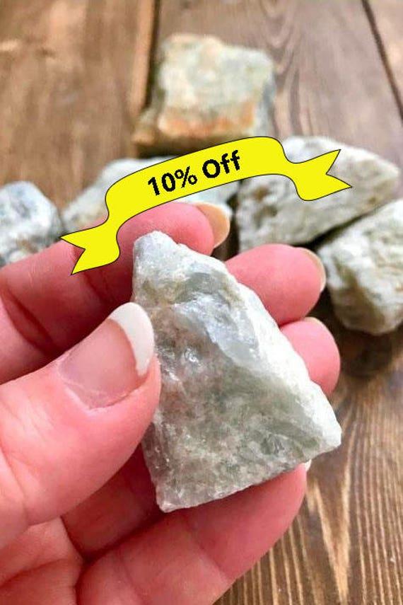 Raw Aquamarine, Aquamarine, Natural Aquamarine, Palm Size Aquamarine, Rough Aquamarine, Healing Crystals and Stones, Crystals for Meditatio