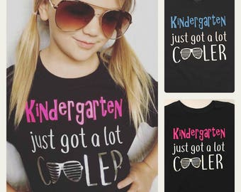 Kindergarten shirt - girl's back to school shirt - 1st grade shirt - 2nd grade shirt- boys kindergarten shirt - BOYS and GIRLS available