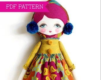 Doll Pattern, PDF Pattern, Cloth Doll, Rag Doll, Art Doll, Felt Doll, Waldorf Doll, Toy Sewing Pattern, Softy Pattern, Doll Tutorial