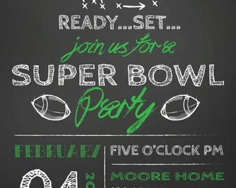 Superbowl Invitation Etsy