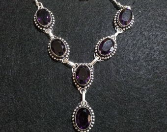 Amethyst Necklace + Free Shipping Worldwide, Crystal Jewelry, Amethyst necklace, crystal healing jewelry, Amethyst Crystal, Amethyst Jewelry