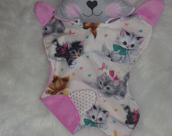 Vintage Tilly Kitty cat baby comforter -SALE