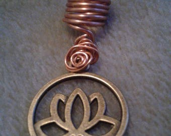Lotus Flower dreadlock jewelry, loc jewelry, dread beads, braid and hair beads and accessories