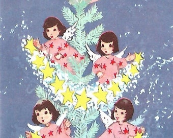 Vintage Angels Greeting Card