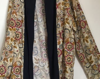 Vintage Paisley Smoking Jacket