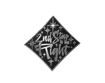 2nd Star to the Right Enamel Pin