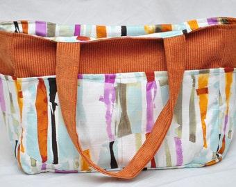 Beautifully Orange, Reversible, Diaper/Handbag