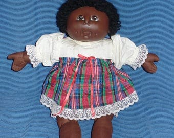 Black Short Haired Cabbage Patch Clone Doll